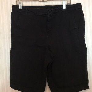 Style & Co Shorts Cotton Spandex Black Size 16